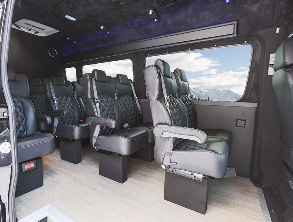 Fleet banff airporter banff to calgary shuttle - Mercedes sprinter interior light ...